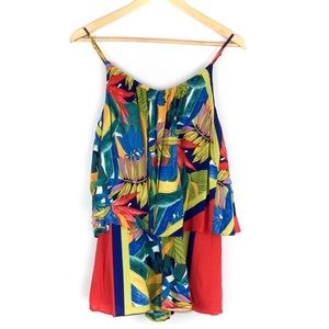 Plenty by Tracy Reese Tropical Romper Size Small